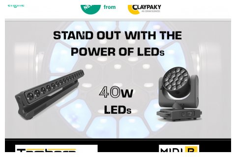 Claypaky new 40W LEDs products